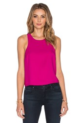 Eight Sixty Crop Top Fuchsia