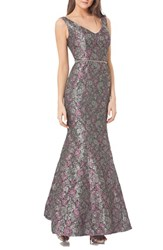 Js Collections Women's Embellished Jacquard Mermaid Gown