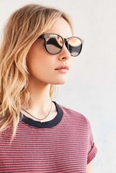 Urban Outfitters Flat Lens Round Sunglasses Black