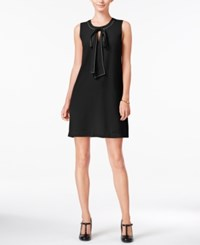 Maison Jules Bow Detail Shift Dress Only At Macy's Deep Black