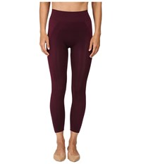 Hue Seamless Shaping Capris Deep Burgundy Women's Capri
