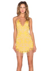 For Love And Lemons Luau Halter Dress Yellow