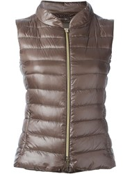 Herno Padded Gilet Nude And Neutrals