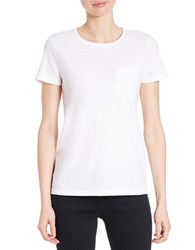 Lord And Taylor Plus Crewneck Tee Shirt White