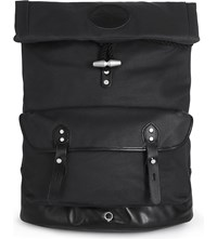 Stighlorgan Reilly Laquered Cotton Canvas Backpack Black