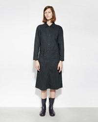 Mhl By Margaret Howell Reinforced Pocket Dress Dark Green