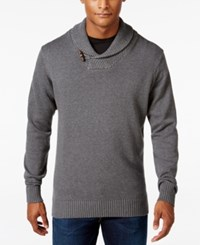Weatherproof Vintage Men's Big And Tall Pullover Sweater Dark Gray