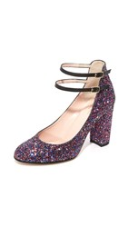 Kate Spade Baneera Glitter Pumps Purple Multi Glitter