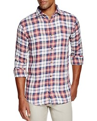 Eleventy Plaid Regular Fit Button Down Shirt Red Blue Green