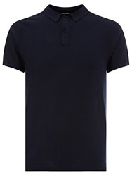 Kin By John Lewis Made In Italy Texture Stitch Polo Shirt Navy