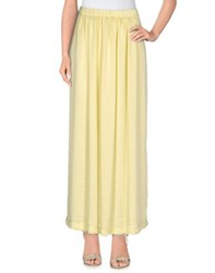 Gigue Skirts Long Skirts Women Light Yellow
