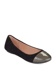 Enzo Angiolini Bealyn Suede Calf Hair Flats Black Suede