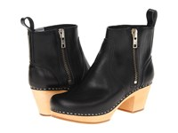 Swedish Hasbeens Zip It Emy Black Women's Zip Boots