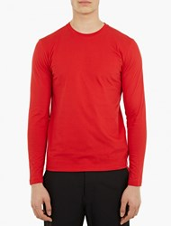Jil Sander Long Sleeved Cotton T Shirt
