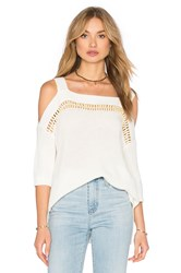 Ella Moss Jordin Cold Shoulder Top White