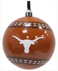 Memory Company Texas Longhorns Ugly Sweater Ball Ornament Orange