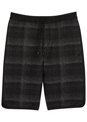 Public School Tryan Checked Flannel Shorts Black