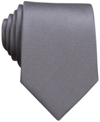 Perry Ellis Oxford Solid Tie Silver