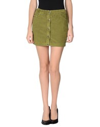 M.Grifoni Denim Skirts Mini Skirts Women Military Green
