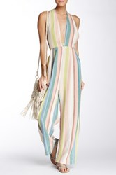Free People My Kind Of Woman Linen Blend Jumpsuit White