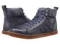Bed Stu Brentwood Navy Floater White Bfs Leather Men's Lace Up Boots Black