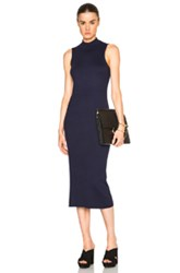 Atm Anthony Thomas Melillo Midi Rib Dress In Blue