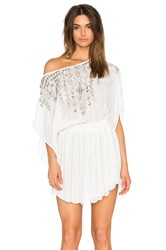 Parker Beach Sunset Embellished Cover Up White
