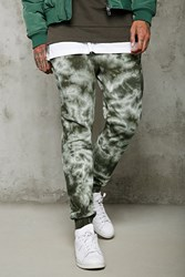 Forever 21 Tie Dye Joggers Olive Black