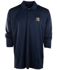 Antigua Men's Long Sleeve Indiana Pacers Polo Navy