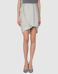 Amaya Arzuaga Knee Length Skirts Light Grey