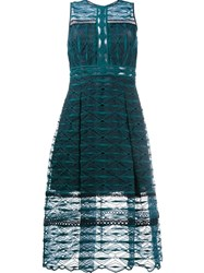 Jonathan Simkhai Embroidered Lace Midi Dress Green