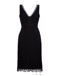 Wallis Sapphire Black V Neck Lace Dress