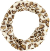 Hat Attack Leopard Print Faux Fur Twist Infinity Cowl Multi