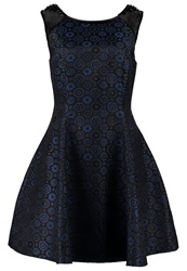 Derhy Ragtime Cocktail Dress Party Dress Bleu Blue