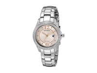 Citizen Fe1140 86X Eco Drive Silhouette Crystal Silver Tone Stainless Steel Watches Bronze