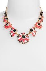 Kate Spade 'Space Age Floral' Frontal Necklace Geranium Multi