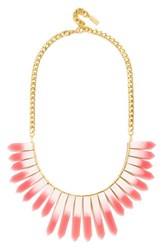 Women's Baublebar 'Marble Ra' Bib Necklace Pink Ombre Gold