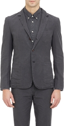 Brooklyn Tailors Three Button Unstructured Sportcoat Black