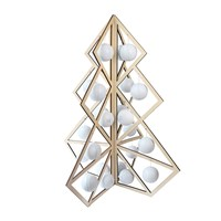 Be And Liv Tree24 Wooden Christmas Calendar White