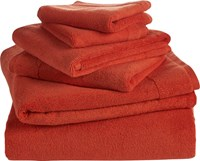 Cb2 6 Piece Smith Orange Bath Towel Set