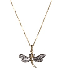 Annoushka Love Diamonds 18Ct Yellow Gold Dragonfly Pendant Necklace