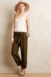 Cartonnier Linen Paperbag Trousers Green