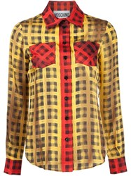 Moschino Plaid Shirt White