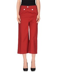 Jucca Trousers 3 4 Length Trousers Women Brick Red