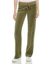 Juicy Couture Black Label Original Flare Velour Sweatpants In Olive 100 Bloomingdale's Exclusive