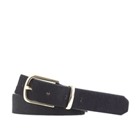 J.Crew Calf Hair Belt Navy