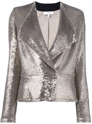 Iro Sequin Distressed Blazer Metallic