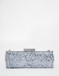 Lipsy Clutch In Grey Glitter With Gold Trim Gy1