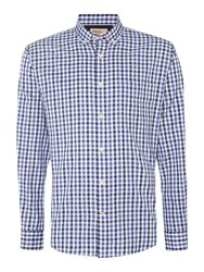 T.M.Lewin Oxford Check Slim Fit Long Sleeve Shirt Navy