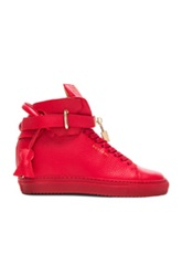 Buscemi 100Mm Leather Altas In Red